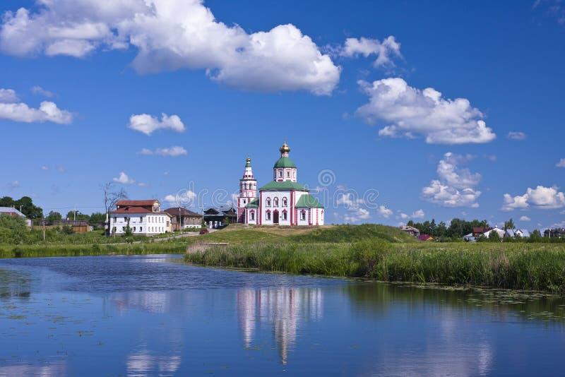 Orthodoxe kerk Suzdal stock foto's