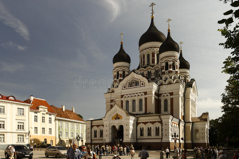 Orthodoxe kerk in Tallin. stock fotografie