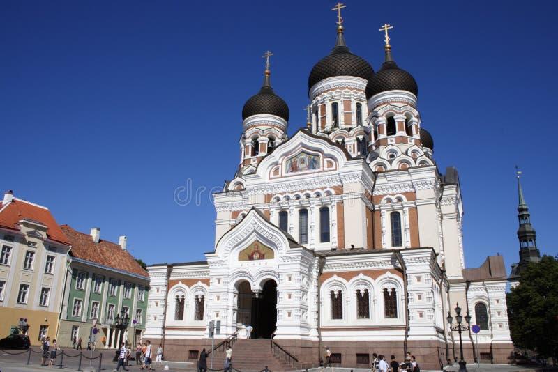 Orthodoxe kerk in Tallin stock fotografie