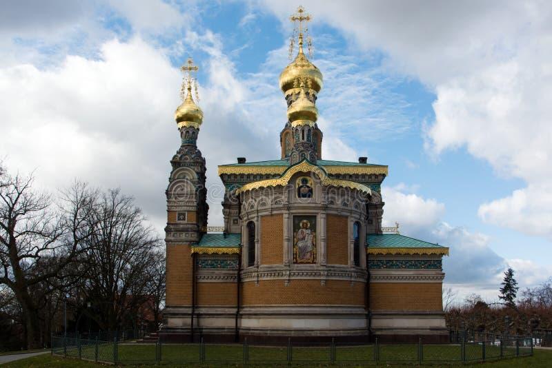 Orthodoxe kerk van Darmstadt royalty-vrije stock fotografie