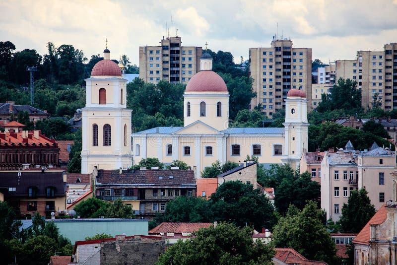 Orthodoxe Kerk van de Heilige Geest, Vilnius stock afbeeldingen