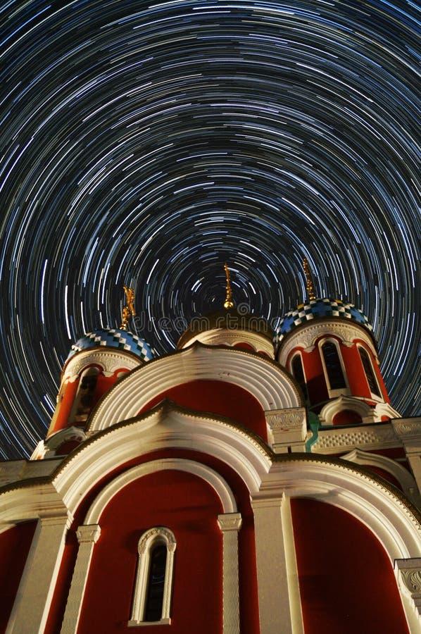 Orthodoxe Kerk van St George - de stad van Medyn, Kaluga-gebied in Rusland stock foto
