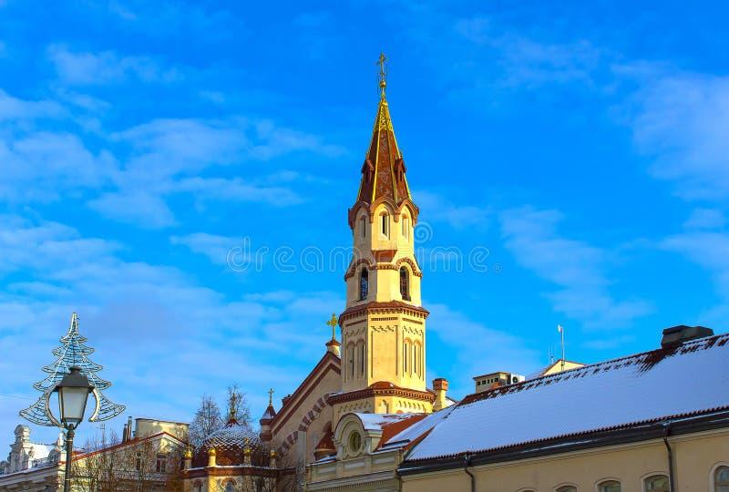 Orthodoxe Kerk van St Nicholas Vilnius, Litouwen stock afbeeldingen