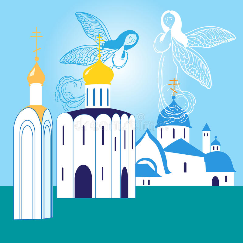 Orthodoxe Kerken vector illustratie