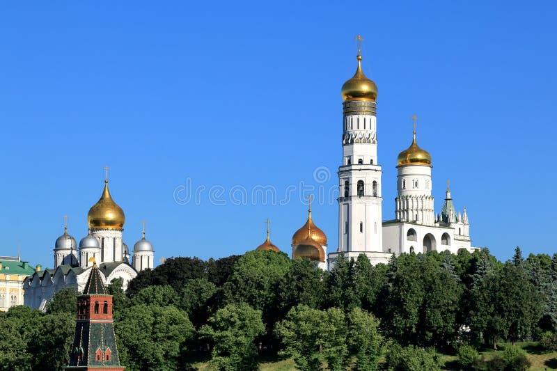 Orthodoxe Kerken van Moskou het Kremlin royalty-vrije stock fotografie
