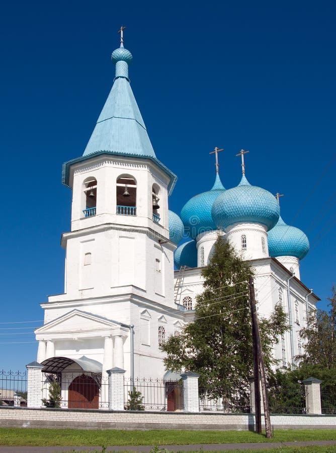 Orthodoxe Kirche. Arkhangelsk lizenzfreie stockfotografie