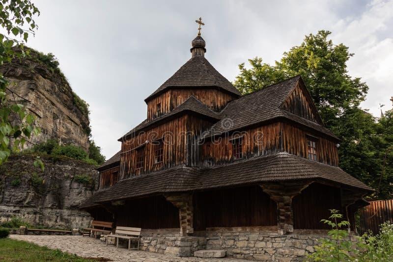 Orthodoxe Kirche des Exaltation des heiligen Kreuzes in Kamianets-Podilskyistadt lizenzfreies stockbild