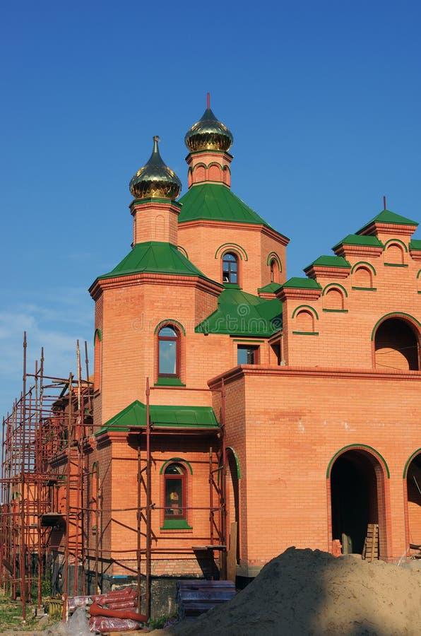 Orthodoxe Kirche im Bau. Kiew, Ukraine lizenzfreies stockfoto