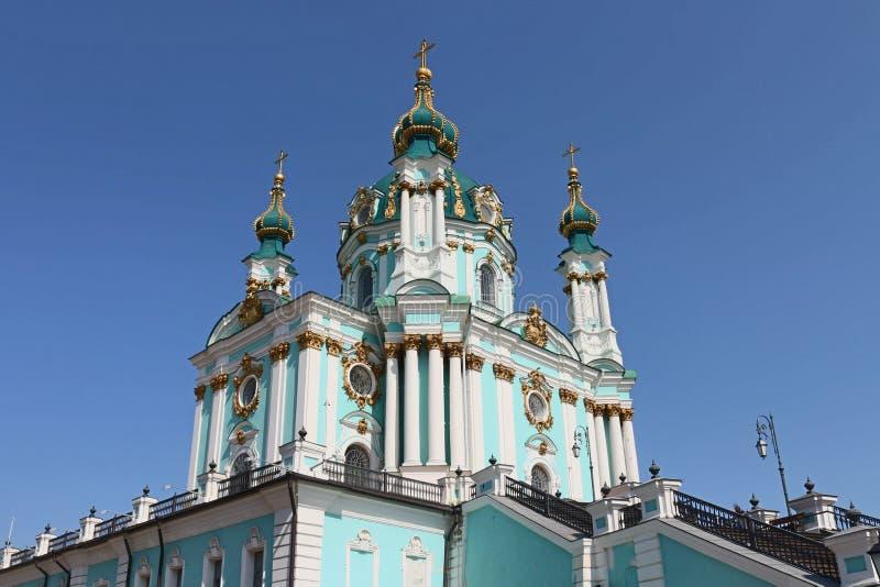 Orthodoxe Kirche in Kiew Andrew-` s Abfall lizenzfreie stockfotos