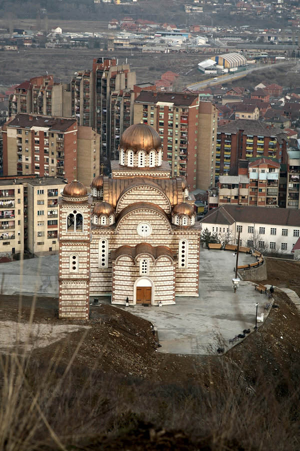 Orthodoxe Kirche in Kosovo stockfotos