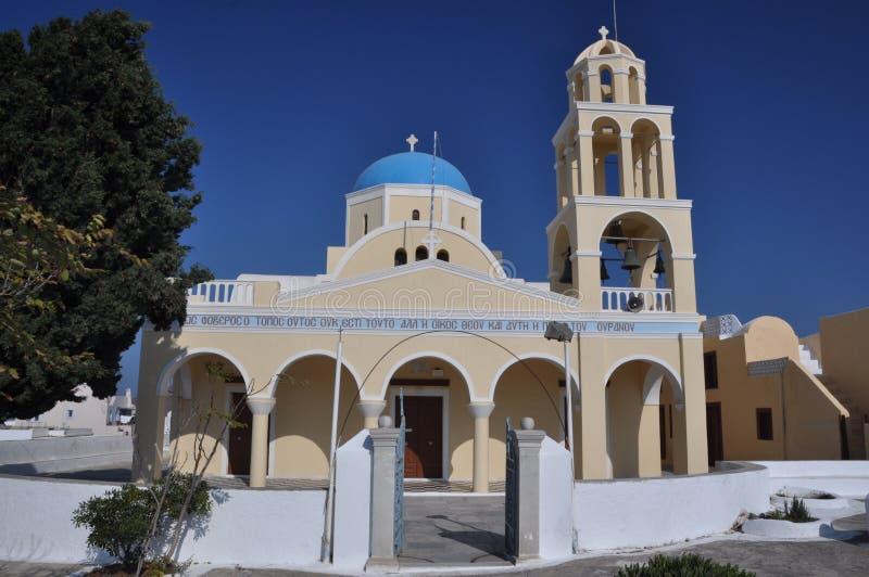 Orthodoxe Kirche in Oia, Santorini, Grece lizenzfreie stockbilder