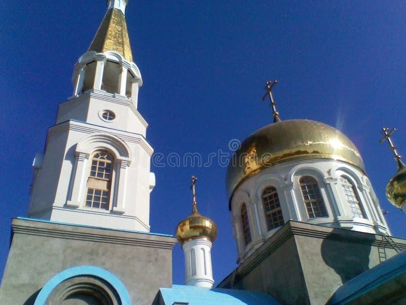 Orthodoxe Kirche in Süd-Russland Typische Ansichten sind charakteristische Hauben und Kreuze stockfoto