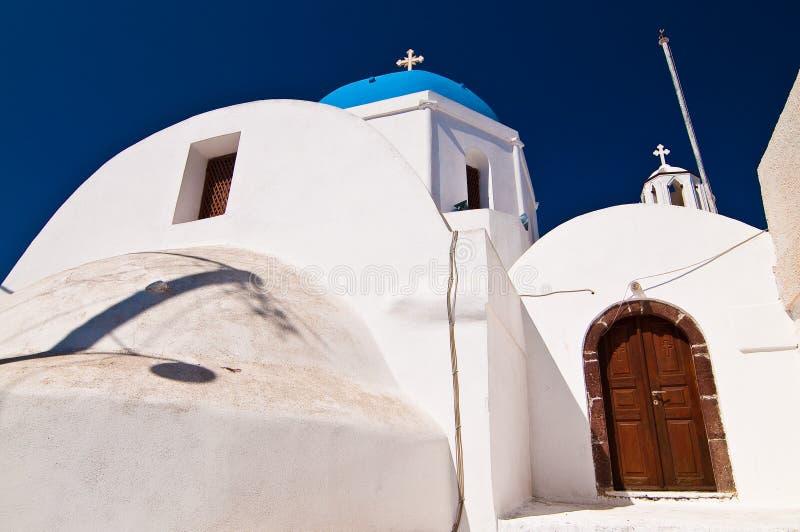Orthodoxe Kirche in Santorini, Grece lizenzfreie stockfotografie