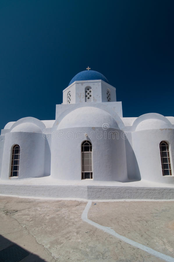 Orthodoxe Kirche in Santorini, Grece stockbild