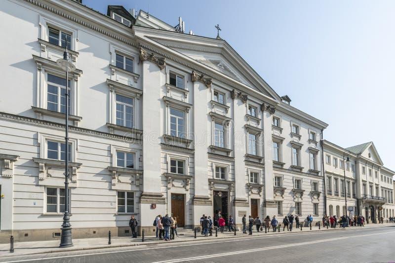 Orthodoxe Kirche und Kloster des Dormition von gesegneten Jungfrau Maria in Warschau stockfoto