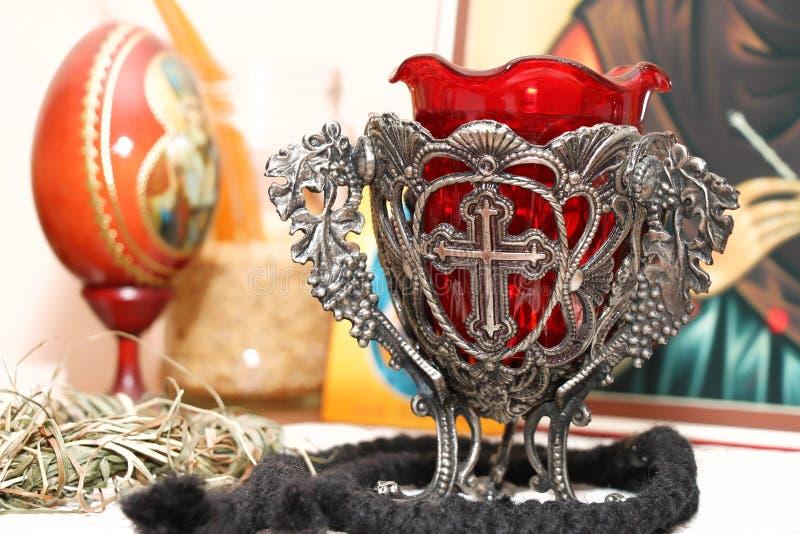 Orthodoxe lamp stock afbeelding