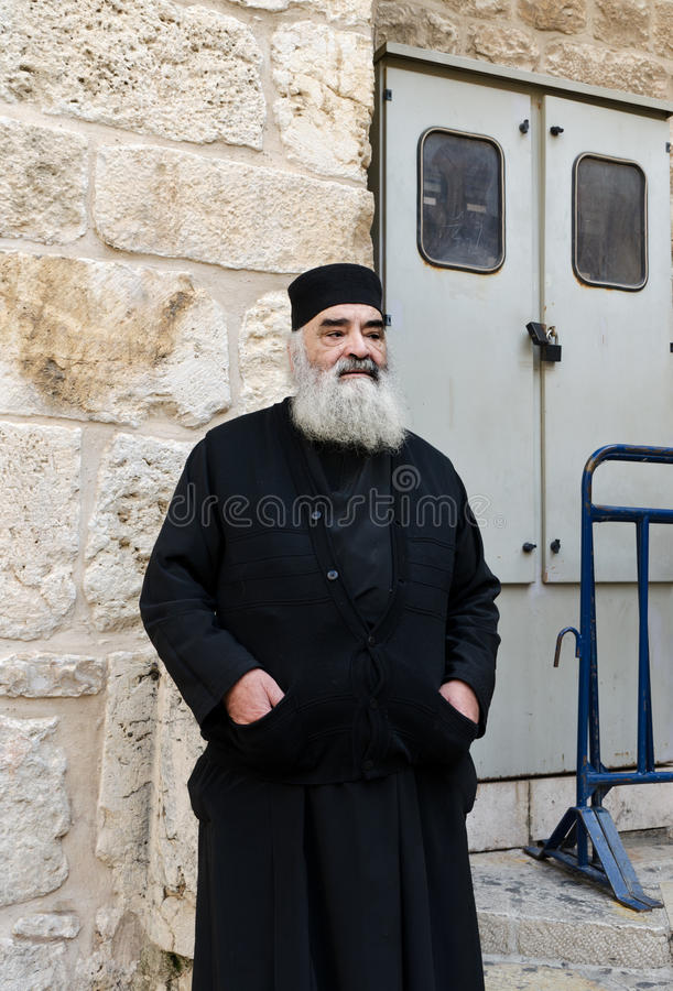 Orthodoxe Priester Redactionele Stock Afbeelding