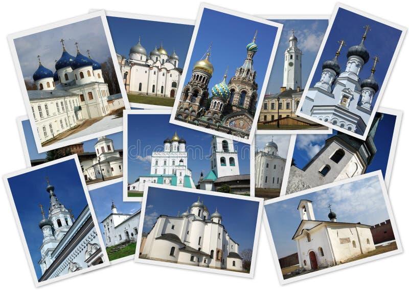 Orthodoxe Russische kerken stock fotografie