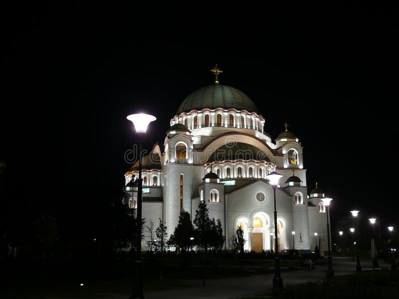 Orthodoxe tempel in Belgrado royalty-vrije stock afbeeldingen