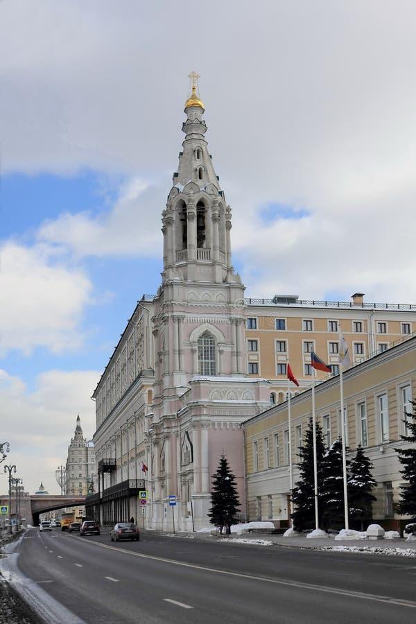 Orthodoxe Tempel van Sophia de Wijsheid van God op Sofia Embankment royalty-vrije stock foto