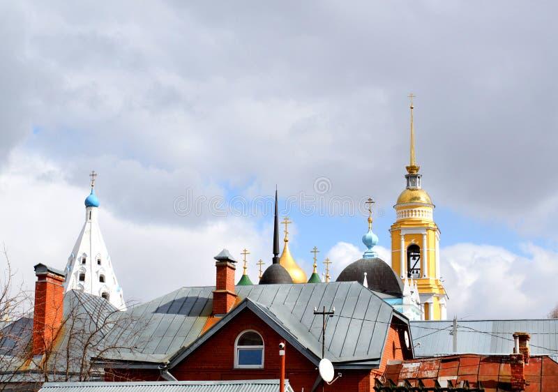Orthodoxer Christian Church in Kolomna fotografierte abstraktes lizenzfreie stockbilder