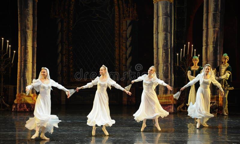 Orthodoxer Nonne-D SchwanSeeufer-ballett Swan See lizenzfreie stockfotos