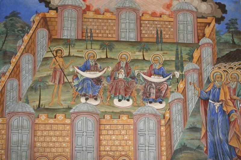 Orthodoxes Fresko stockbild