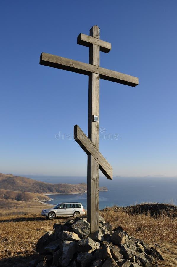 Orthodoxes Kreuz stockbild