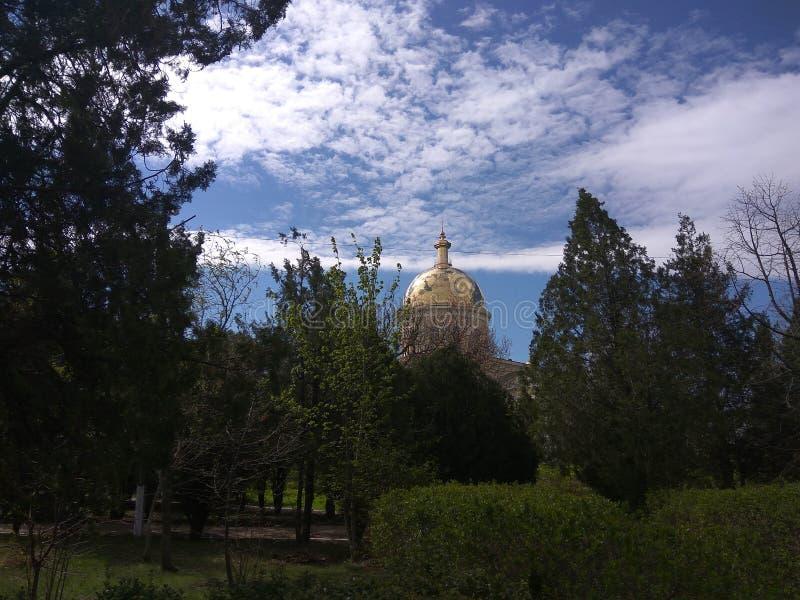 Orthodoxiekirche Park stockfotografie