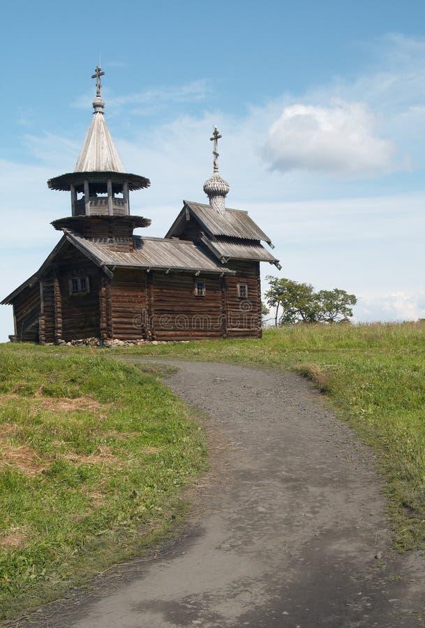 Orthodoxy van Woden kerk royalty-vrije stock foto