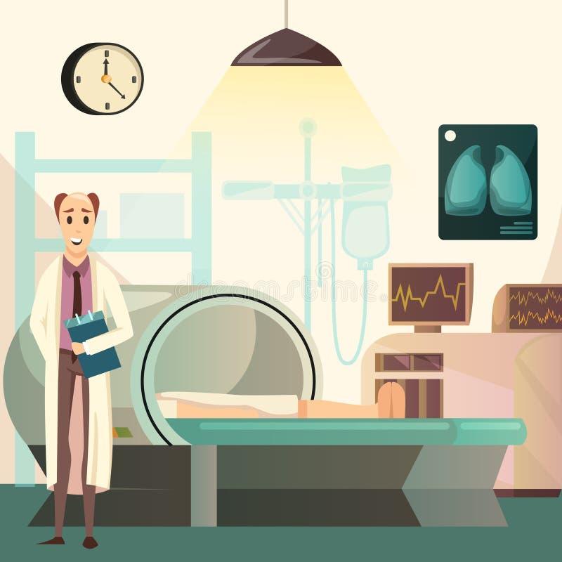 Orthogonaler Hintergrund des Niederlagen-Krebs-MRI stock abbildung