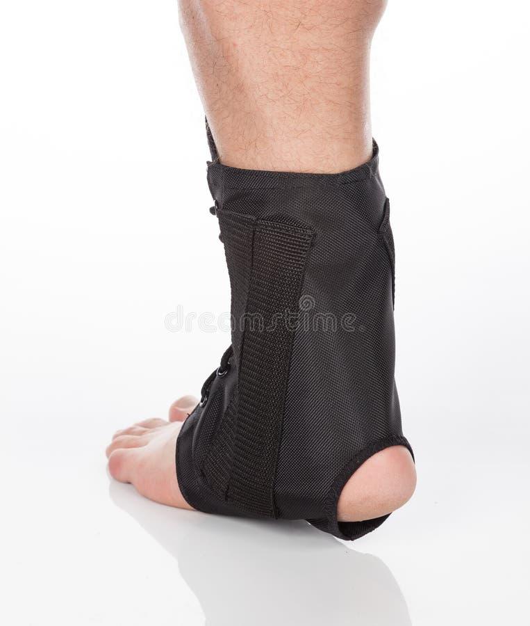 Orthopedic ankle brace stock photography