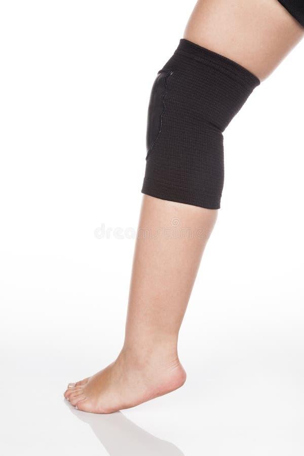 Orthopedic knee brace royalty free stock photography