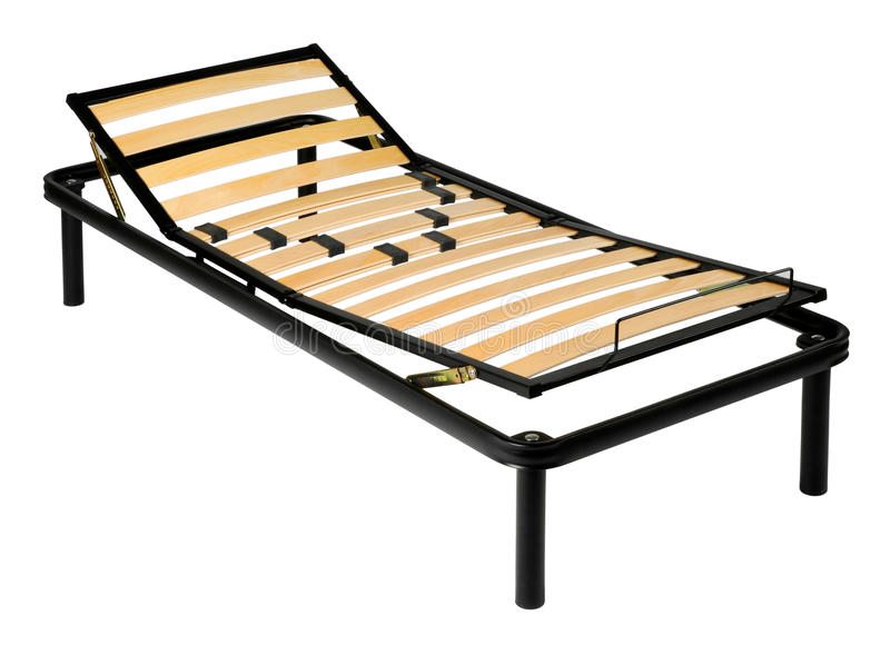 Orthopedic lounge chair with metal frame stock photo for Raw wood bed frame