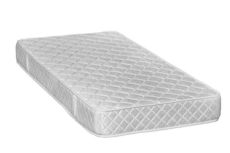 Orthopedic mattress. Isolated. Mattress that supported you to sleep well all night isolated on white background stock photos
