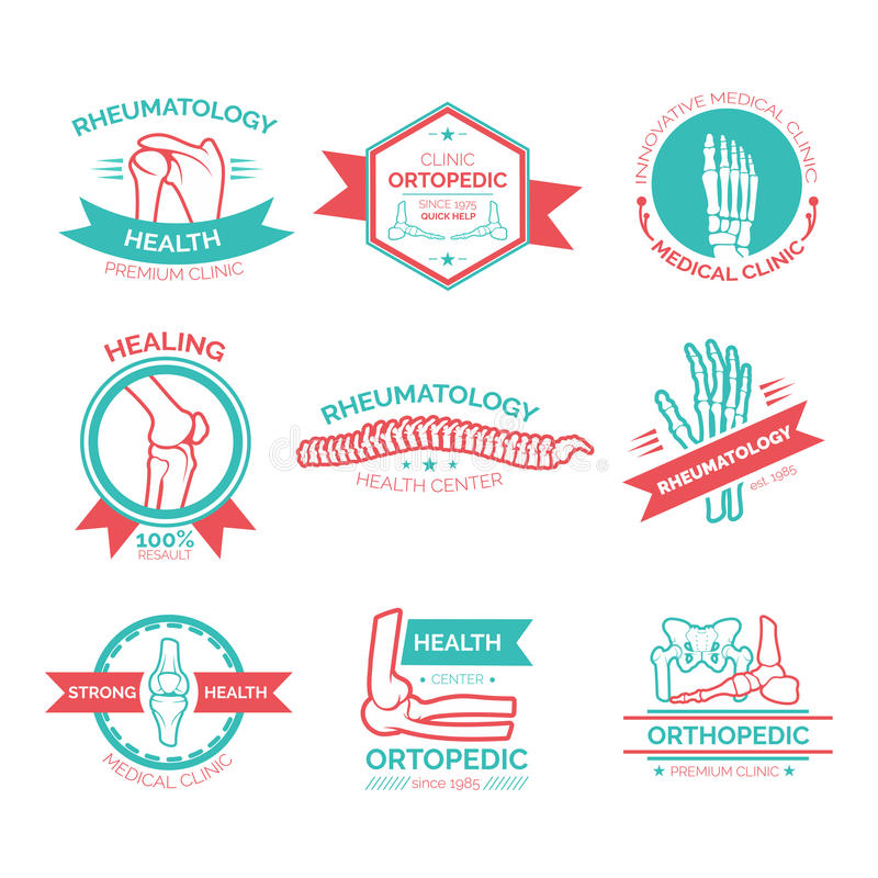 Orthopedic medical and diagnostic clinic symbol royalty free illustration