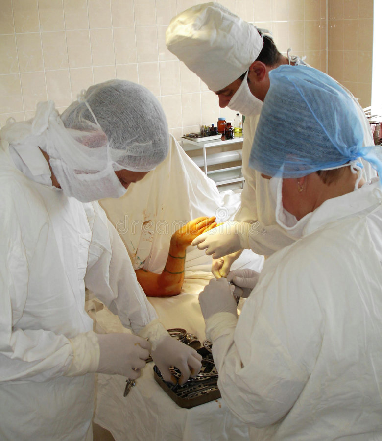 Orthopedic operation stock photos