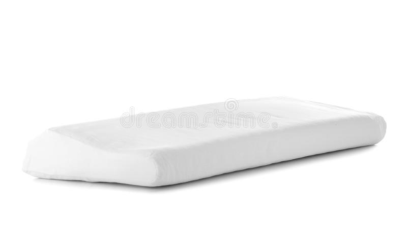 Orthopedic pillow isolated. On white stock image