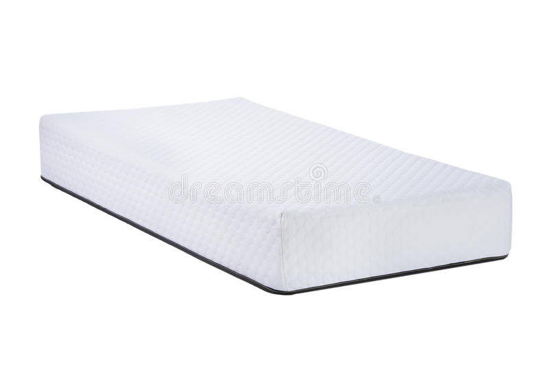 Orthopedic soft mattress for sleeping isolated on white background.  royalty free stock photo