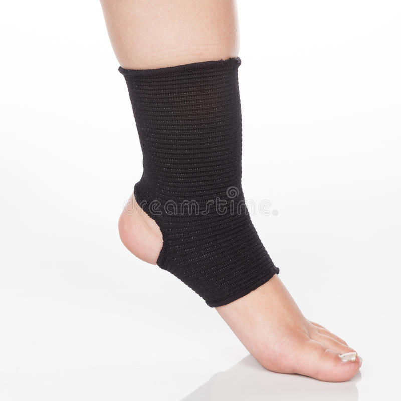 Orthopedic support for ankle stock photography