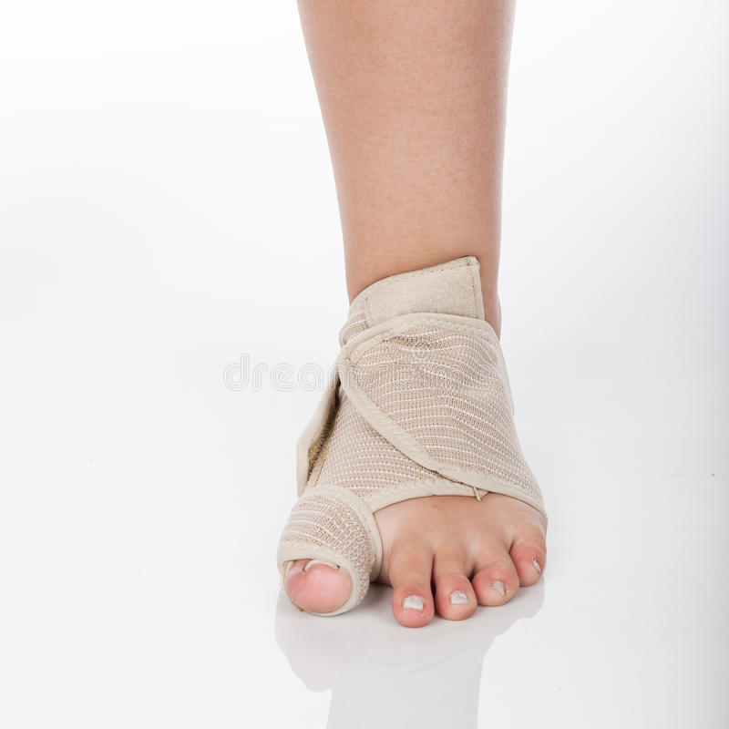 Orthopedic support for ankle royalty free stock photo