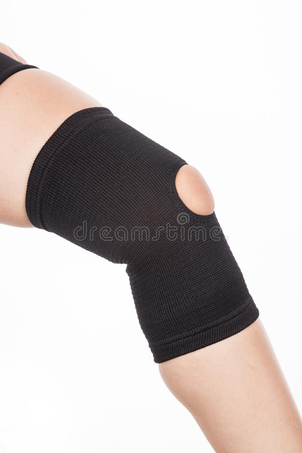 Orthopedic support for the knee stock image