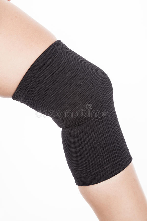 Orthopedic support for the knee royalty free stock photo