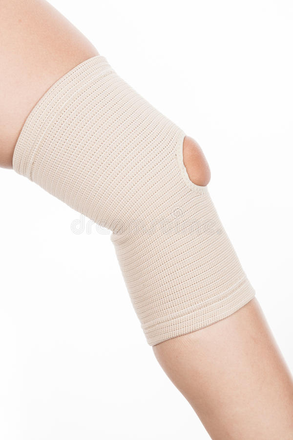 Orthopedic support for the knee royalty free stock image