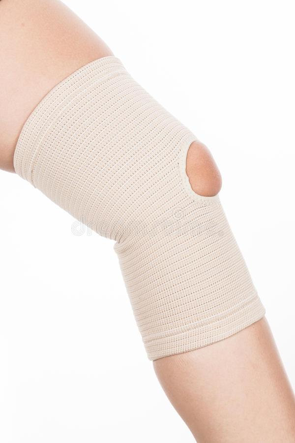 Orthopedic support for the knee royalty free stock photography