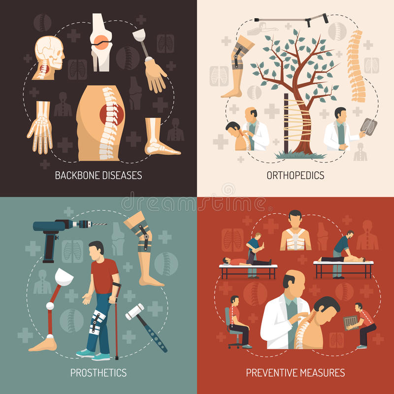 Orthopedics 2x2 projekta pojęcie ilustracji