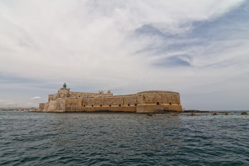 Ortigia siracusa sicily castle stock photos