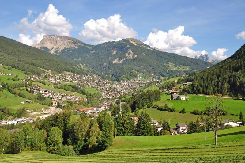 Ortisei in Val Gardena,South Tyrol,Dolomites. View into the val gardena near Ortisei,south tyrol,dolomites,italy stock images