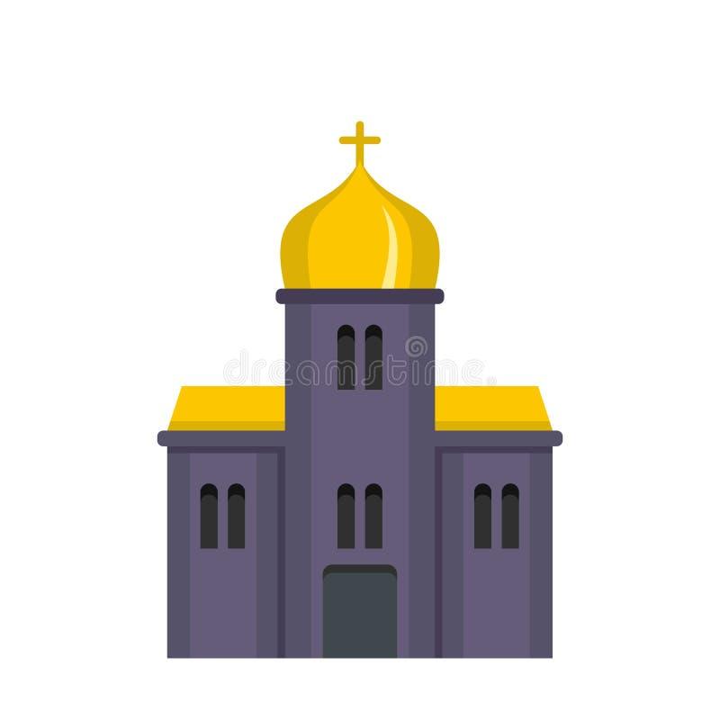 Ortodoksalnego kościół ikona, mieszkanie styl royalty ilustracja