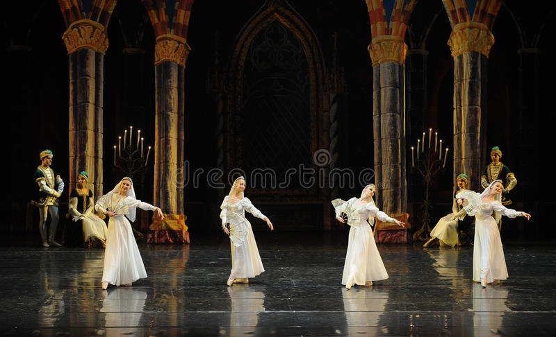 Ortodoksalnej magdalenki baleta Łabędź Łabędzi jezioro obraz stock